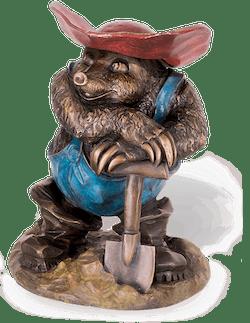 """Bronzefigur Maulwurf """"Es ist vollbracht"""" von Atelier Strassacker"""