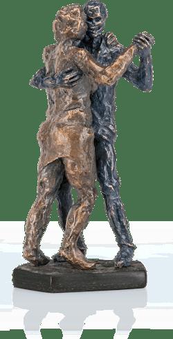 Bronzeskulptur-Tangopaar-Herbst