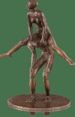 Bronzefigur Süße Last von Hans Neuwirth
