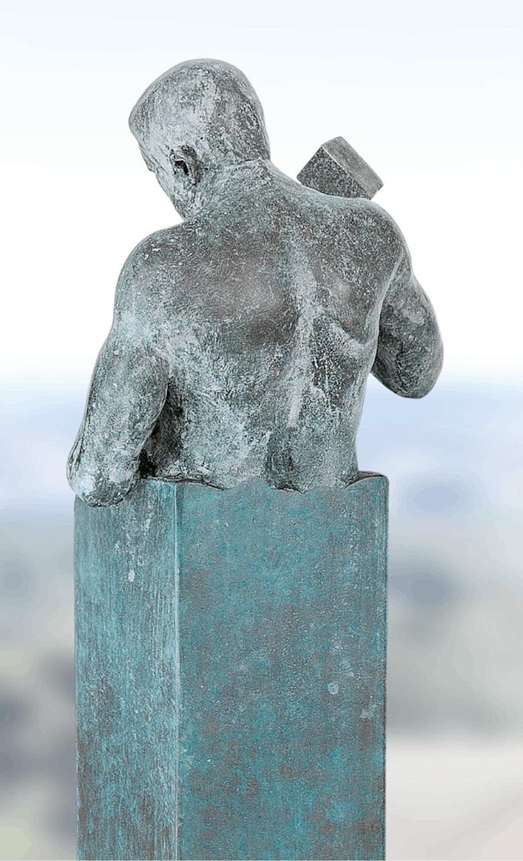 Bronzefigur Le Sage se faconne lui-même von Annie Jungers
