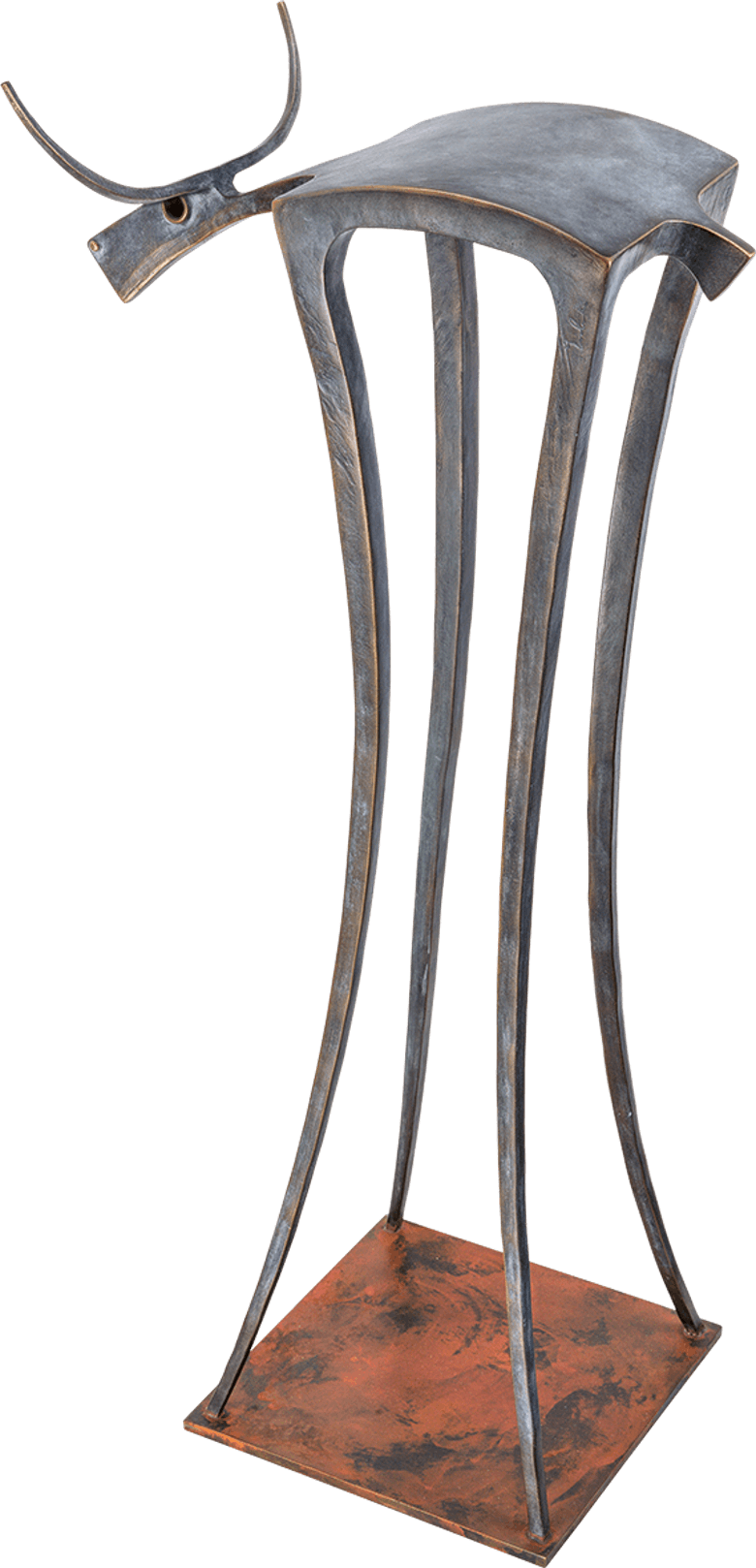 Bronzeskulptur-Bulle-Stier