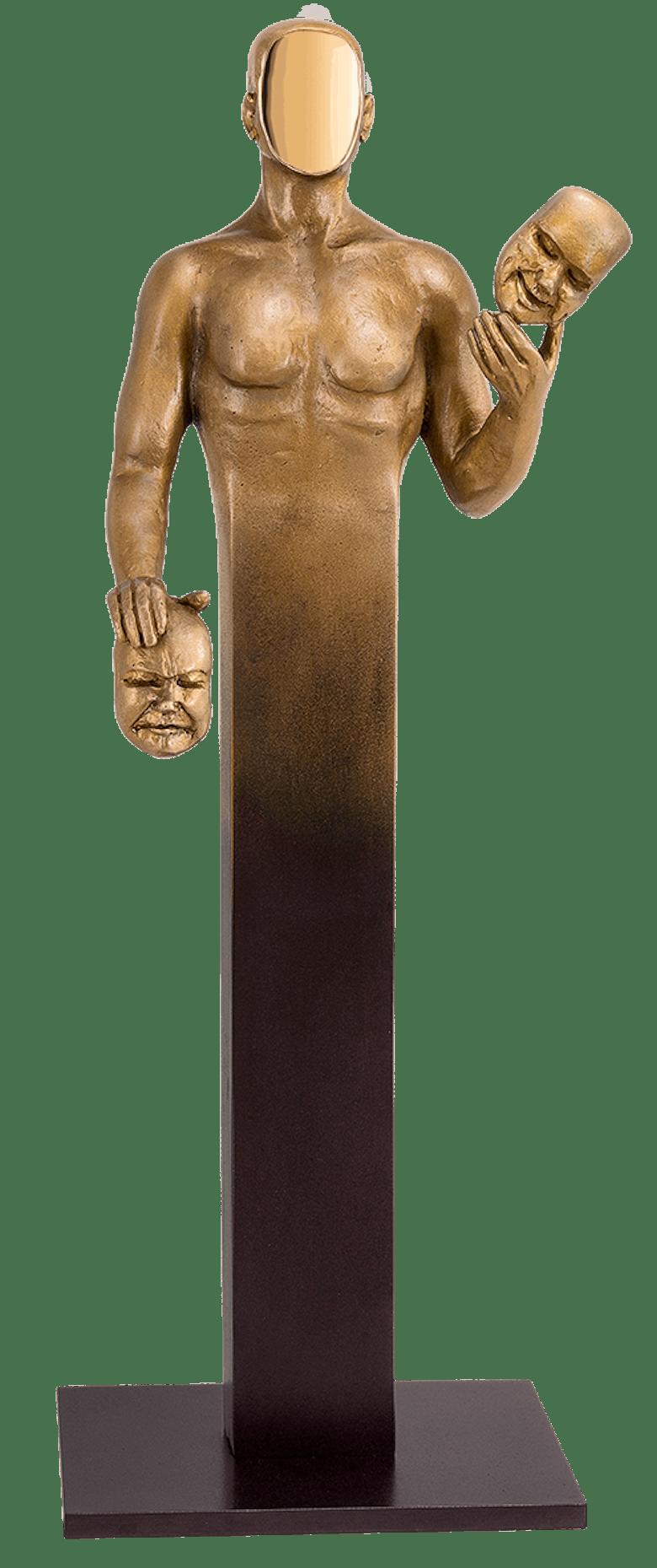 Bronzefigur Volte Face von Annie Jungers
