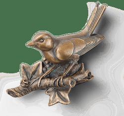 Bronzeskulptur Vogel - Fink