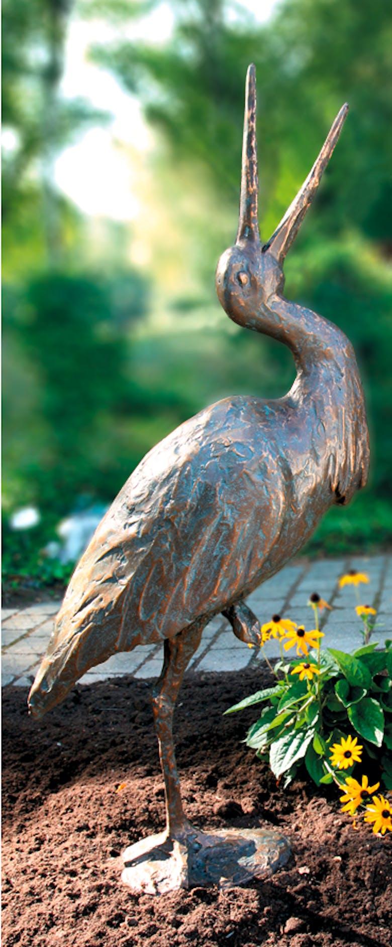 Bronzefigur Storch von Peter Roman Heid