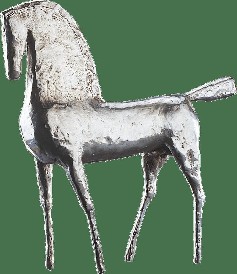 Bronzefigur Pferd, silber von Hermann Schwahn