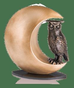 Bronzefigur Nachteule von Thomas Schöne