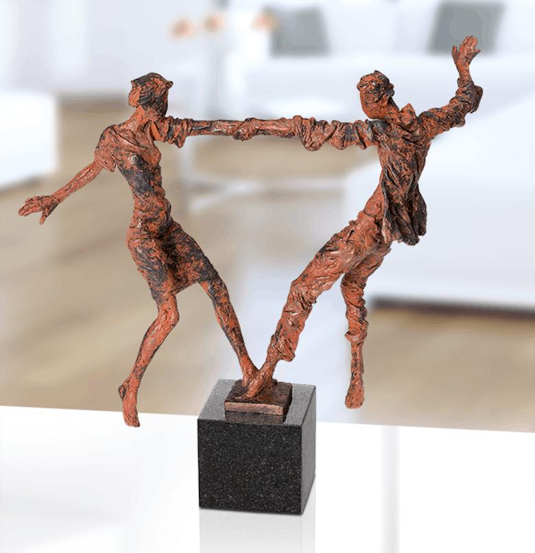 Bronzefigur Liebespaarbalance von Safronov