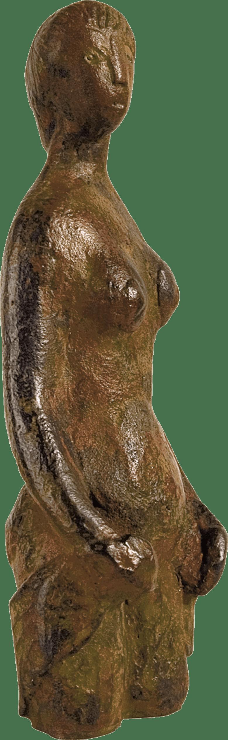 Bronzefigur Torso von Hermann Schwahn