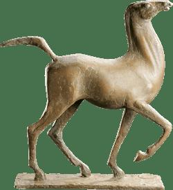 Bronzefigur Pferd von Hans Nübold