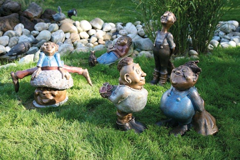 Bronzefiguren Gartengeister von Catherine Boulogne