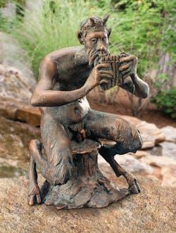 Bronzefigur Pan von Atelier Strassacker