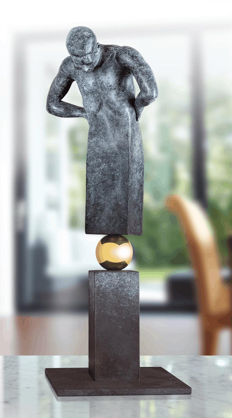 Bronzefigur That is the question von Annie Jungers