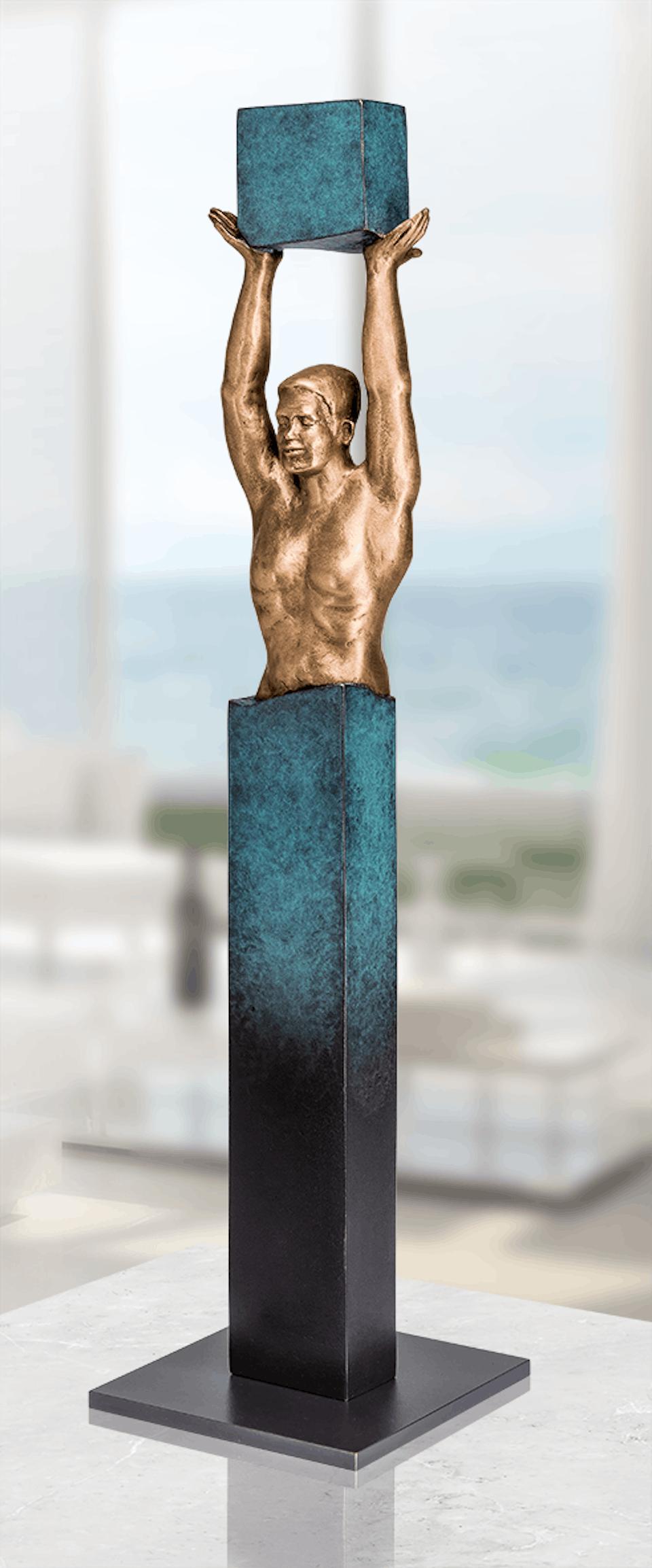Bronzefigur Yes, I can von Annie Jungers