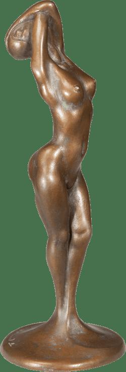 Bronzefigur Weiblicher Akt von Luigi Colani