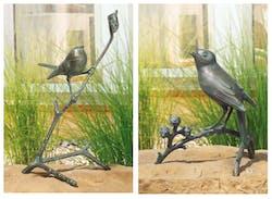 """Bronzefigur Set """"Gefiederte Freunde"""" von Atelier Strassacker"""