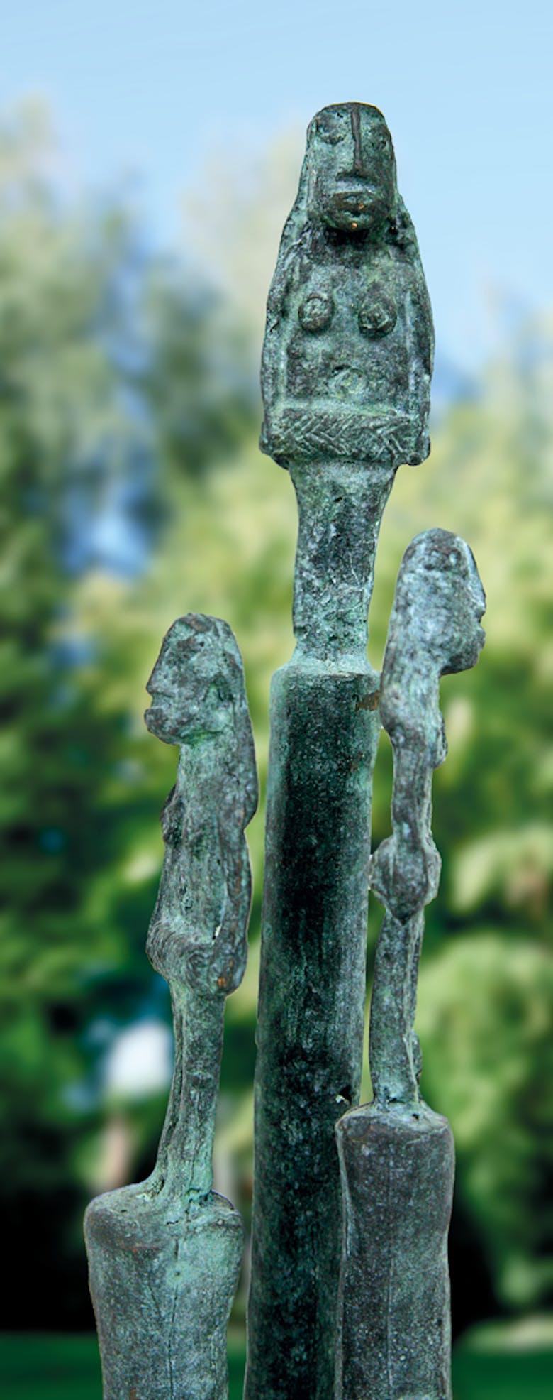 Bronzefigur Garten von Miguel Sanoja