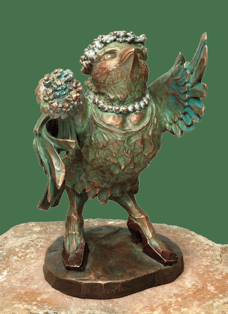 Bronzefigur Die Braut: die Amsel von Atelier Strassacker