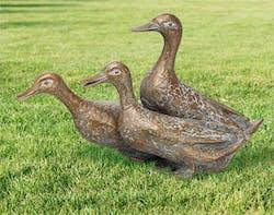 Bronzefigur Drei Enten von Atelier Strassacker