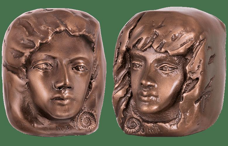 Bronzefigur Set Wegbegleiter I von Maria-Luise Bodirsky