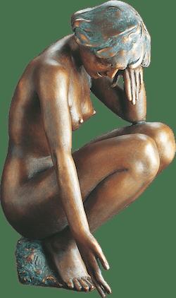 Bronzefigur Bunte Steine von Erwin A. Schinzel