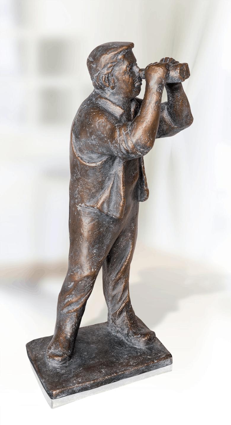 Bronzefigur Blick in die Zukunft von Friedhelm Zilly