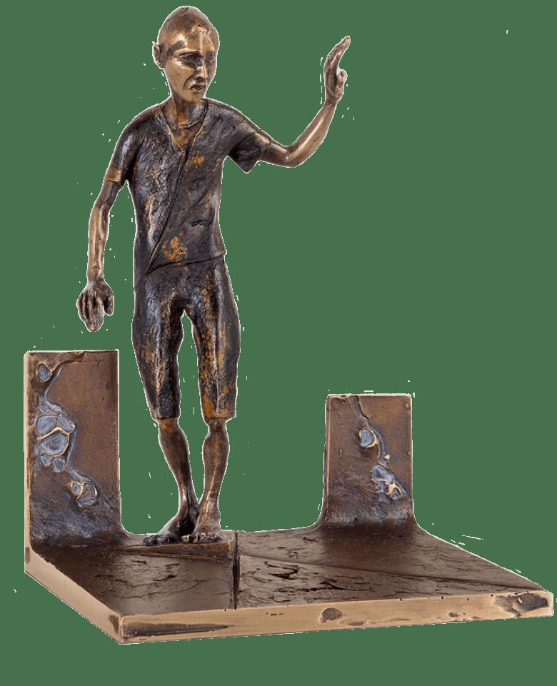 Bronzefigur Am Scheideweg von Woytek