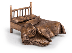 Bronzefigur Bed of yesterday von Newman-Maguire