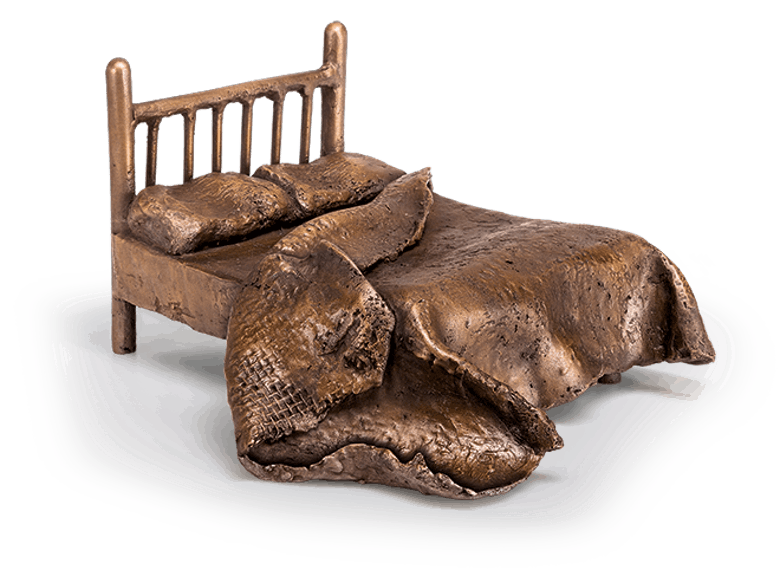Bronzefigur Bed of yesterday von Newman-Maguire