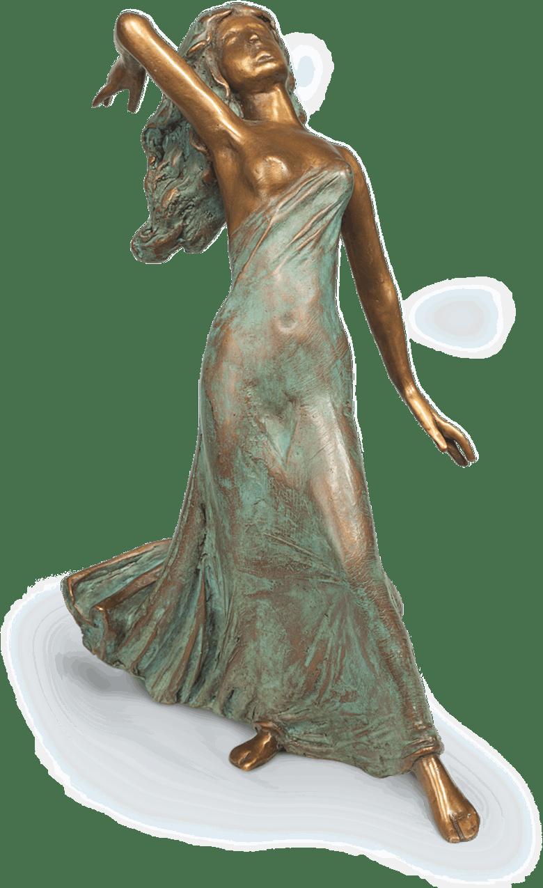Bronzefigur Schleiertänzerin von Erwin A. Schinzel