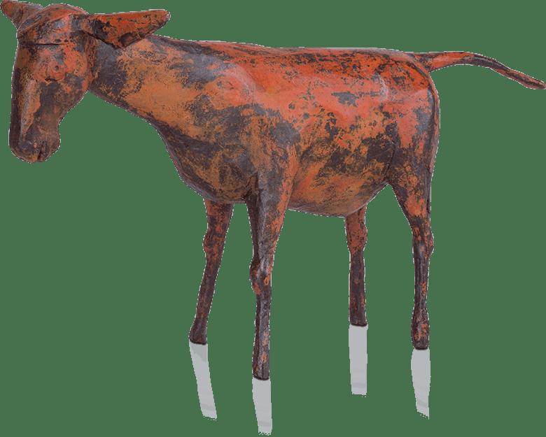 Bronzefigur Esel von Hermann Schwahn