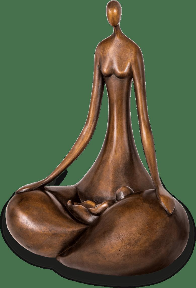 Bronzefigur Le Berceau von Marie-Madeleine Gautier