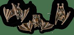 Bronzefigur 3 Fledermäuse im Set von Atelier Strassacker