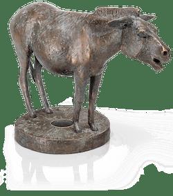 Bronzefigur Esel von Hans Nübold