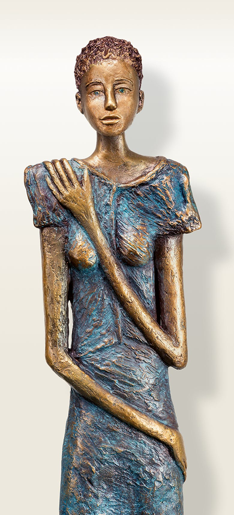 Bronzefigur »La Timide« von Silvia Seitz