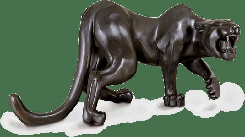 Bronzefigur Ira (Panther) von Esther Reinhart