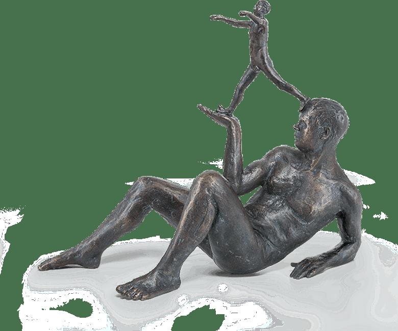 Bronzefigur Was uns denkt, trägt und leitet von Adelbert Heil