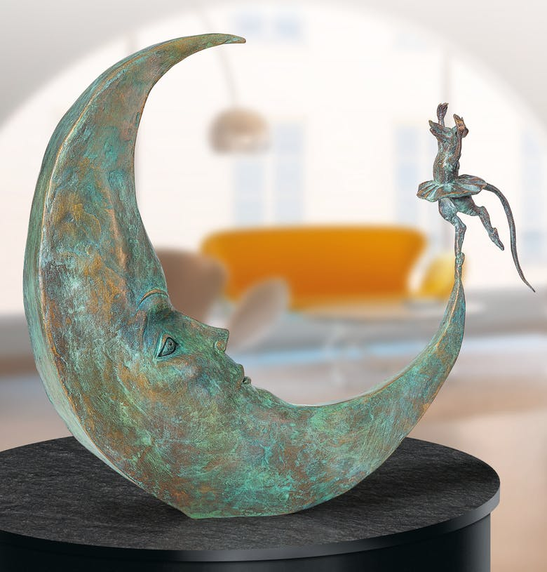 Bronzefigur Danse avec la Lune von Agnès Boulloche