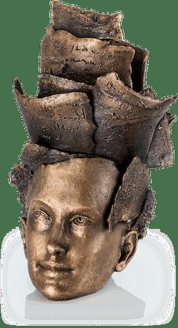 Bronzeskulptur-Thoughts