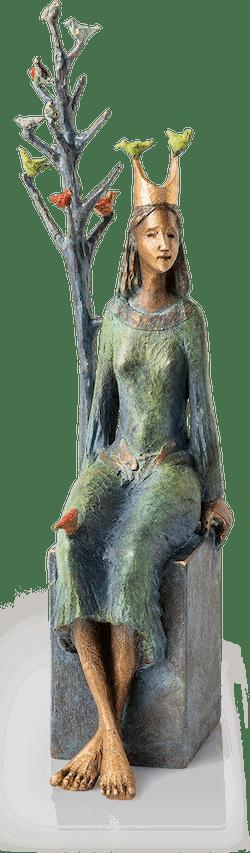 Bronzeskulptur-Prinzessin