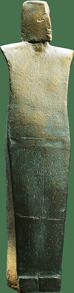 Bronzefigur Priester von Christiane Raschke