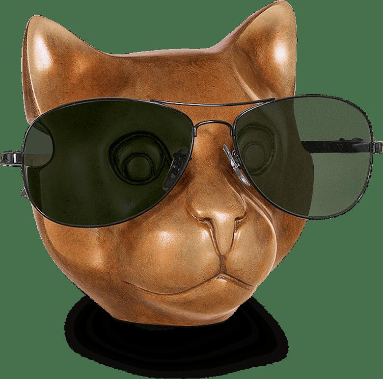 Bronzefigur Katze von Jagna Weber