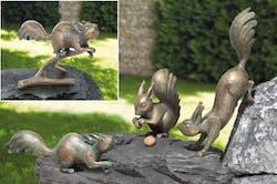 Bronzefigur 4 Eichhörnchen als Set von Atelier Strassacker