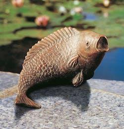 Bronzefigur Fisch von Martin Schliessler