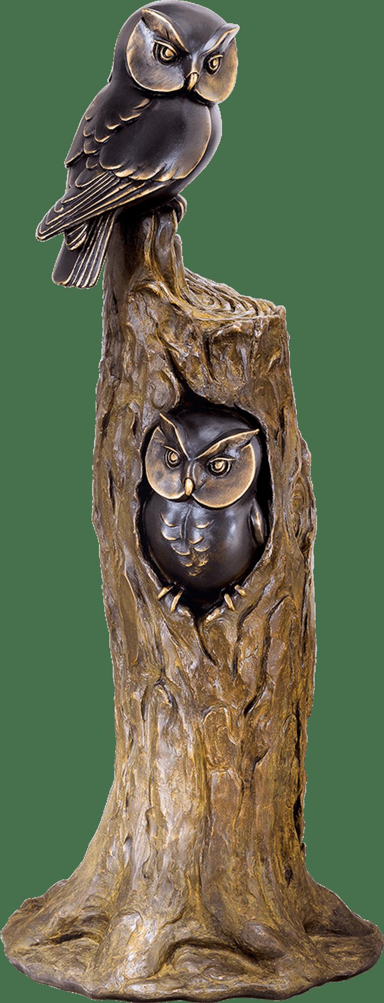 Bronzefigur Eulenbaum von Atelier Strassacker