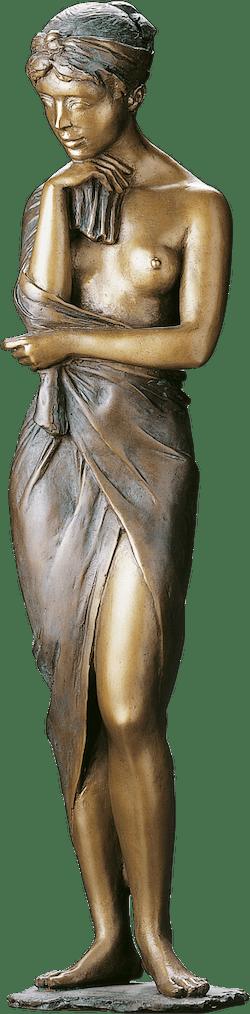 Bronzefigur Im Rosengarten von Erwin A. Schinzel