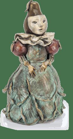 Bronzefigur La Menine Fruitée von Agnès Boulloche