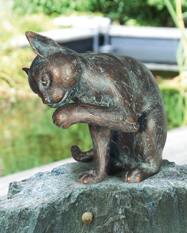 Bronzefigur Katze von Atelier Strassacker