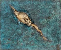 Bronzefigur Relief Metamorphose von Maria-Luise Bodirsky
