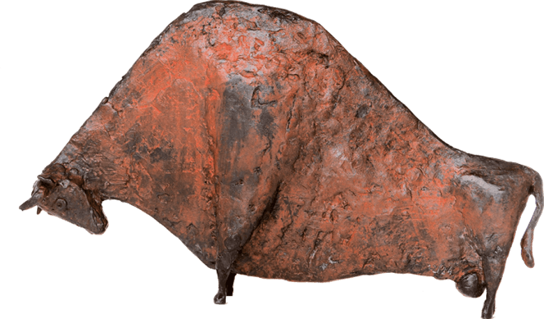 Bronzefigur Großer Stier von Hermann Schwahn