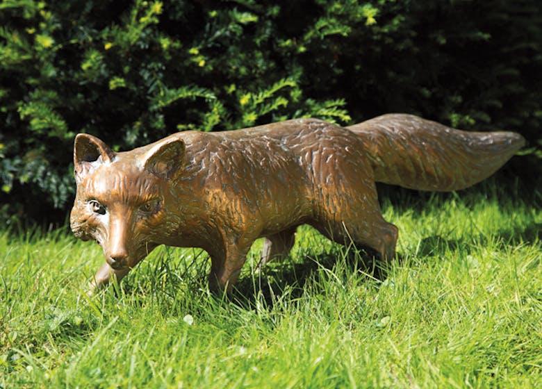 Bronzefigur Fuchs, stehend von Atelier Strassacker